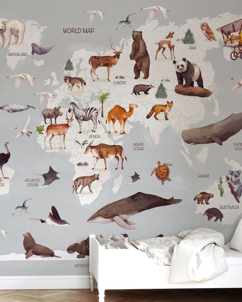 Mural - World of Animals (Per Sqm)