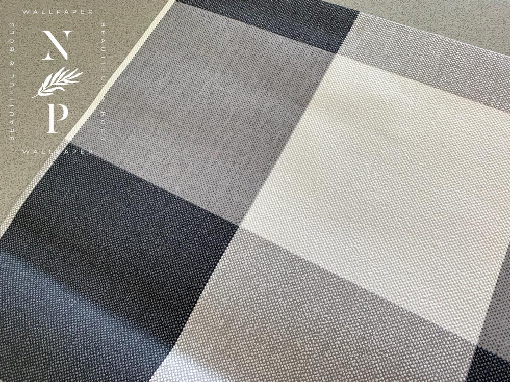 Check Wallpaper - Grey