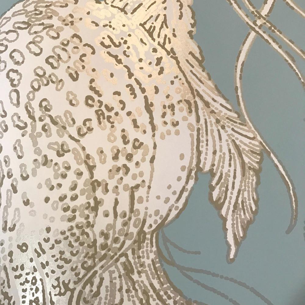 JELLYFISH BLOOM - GOLD & AQUA