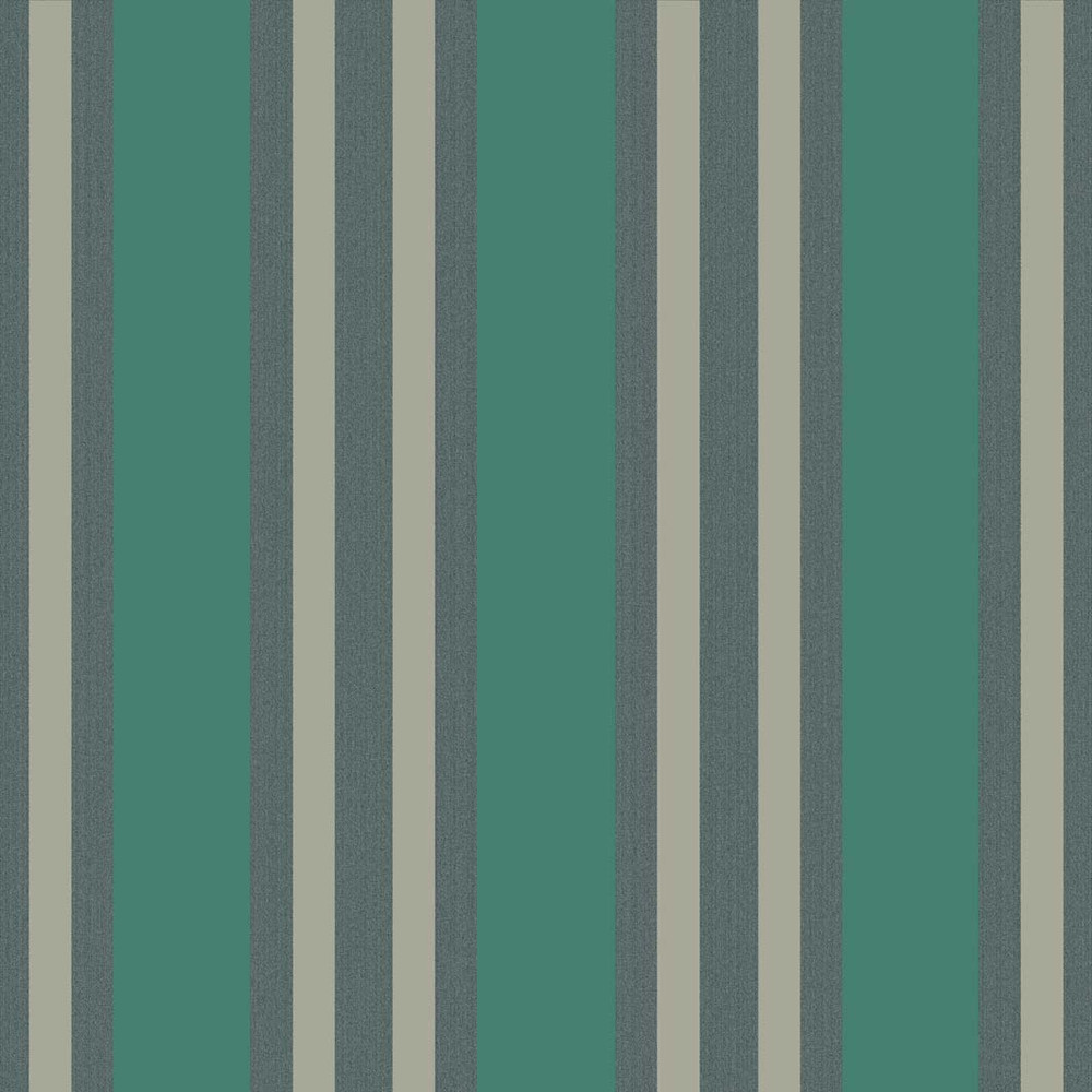 POLO STRIPE - TEAL & GILVER