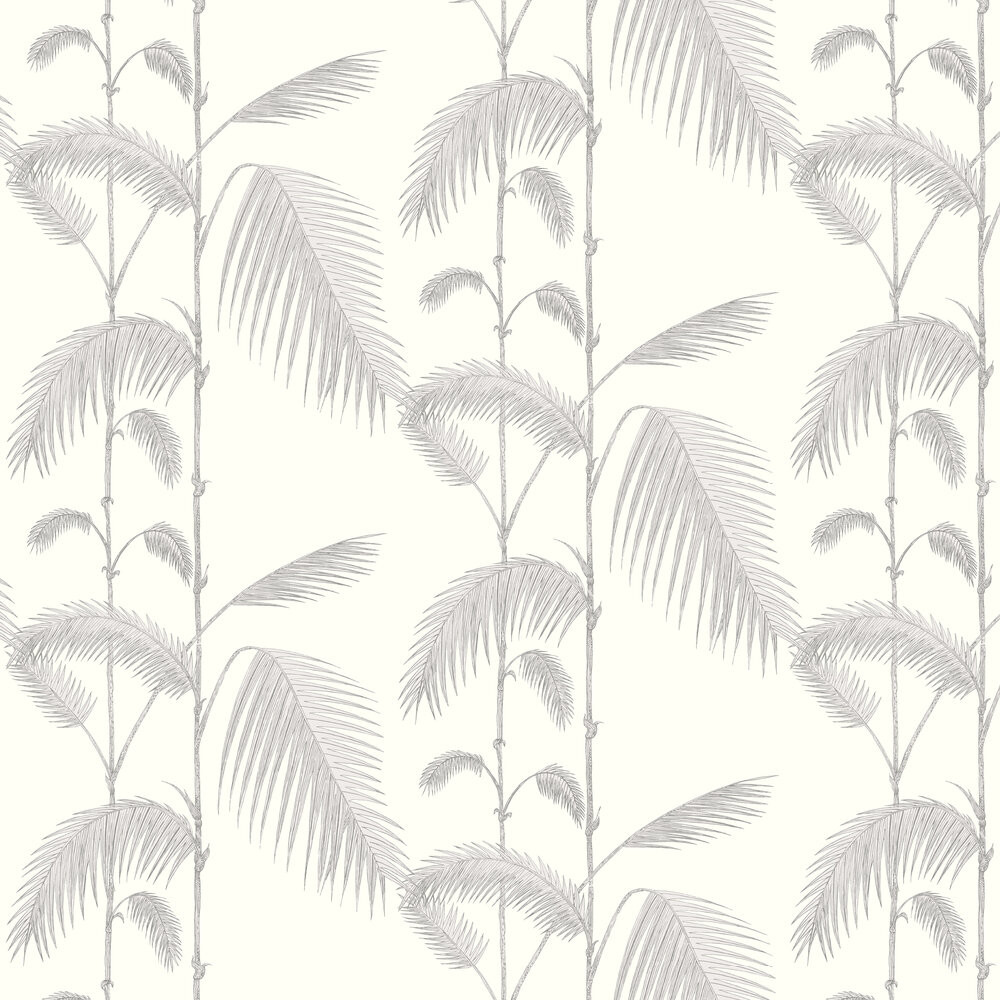 Palm Leaves - Dove Grey