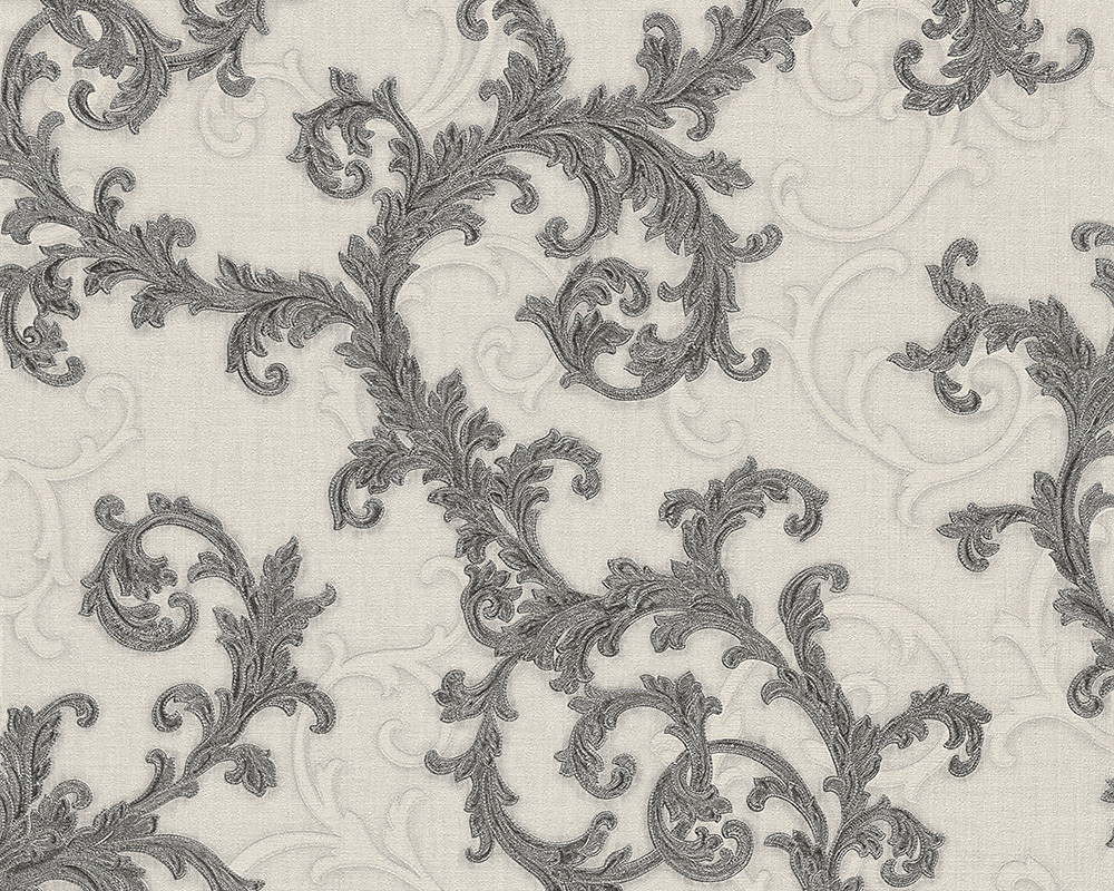 BAROQUE & ROLL - OFF WHITE & CHARCOAL