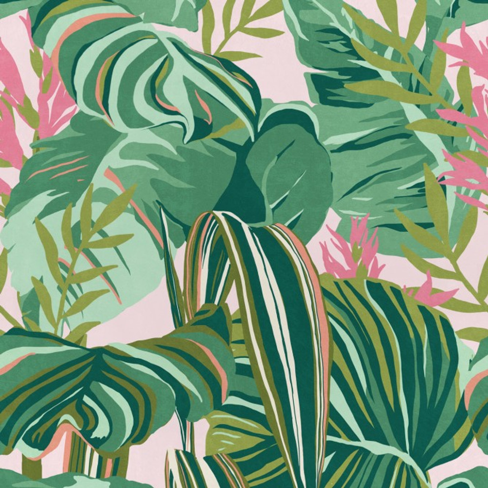 TROPICAL FOLIAGE - PINK