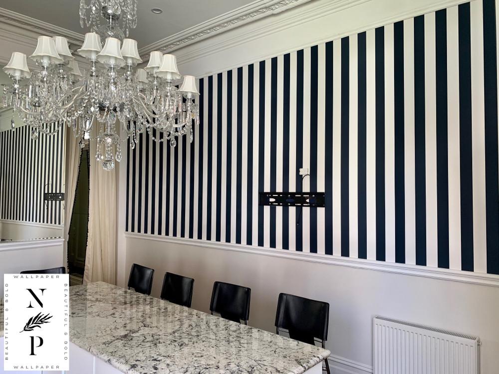 Ralph Lauren Spalding Stripe - Navy Blue / White