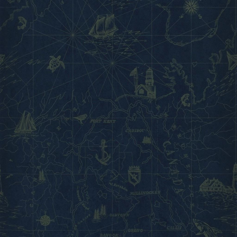 Ralph Lauren Searsport Map - Royal