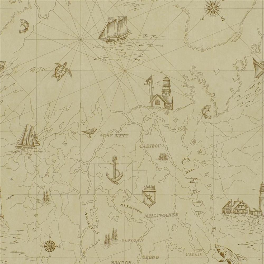 Ralph Lauren Searsport Map - Beige