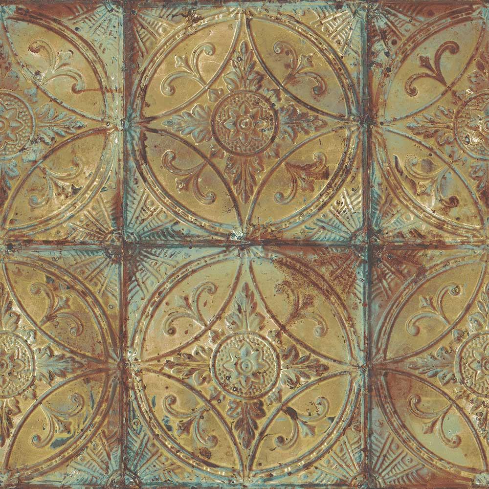 Tin Tile - Gold