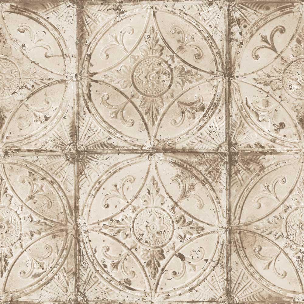 Tin Tile - Cream