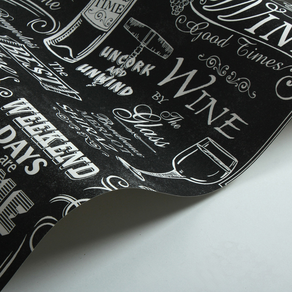 Wine Board - Chalkboard Black