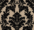 BAROQUE FLOCK - BLACK / BEIGE