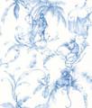 BARBARY TOILE - BLUE / WHITE