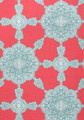 MEDALLION PAISLEY - PINK / TURQUOISE (11 ROLLS AVAIL.)