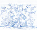 MURAL - BIRD PARTY BLUE PORCELAIN (PER SQM)