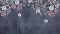 MURAL - VINTAGE FLOWER WALL MIDNIGHT (PER SQM)