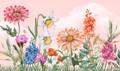 Mural - Summer Field Pink (Per Sqm)