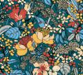 Flora Impression - Blue / Orange