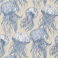 JELLYFISH BLOOM - BLUE & BEIGE