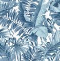 ALFRESCO PALM LEAF - NAVY
