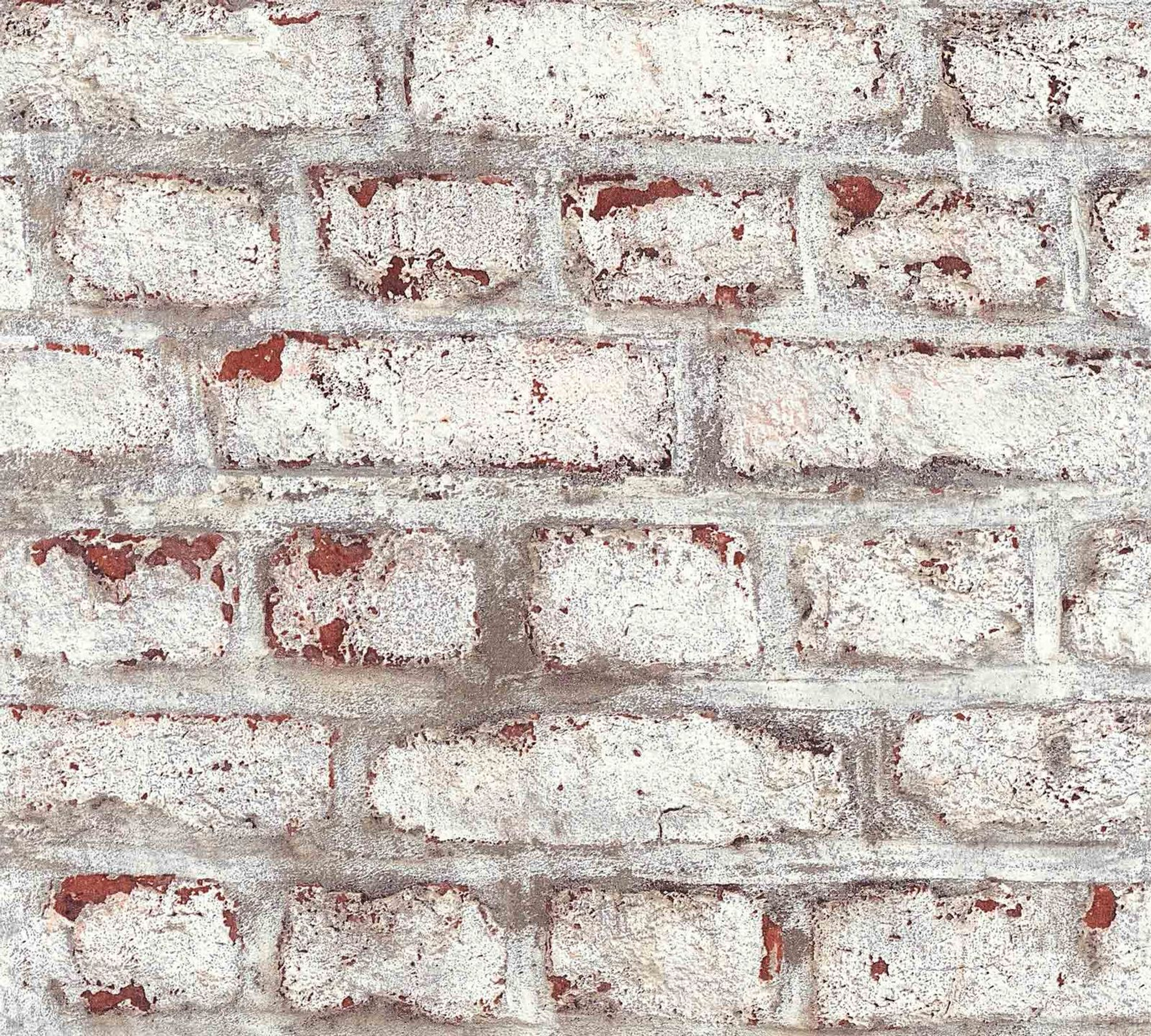 Industrial Brick Red White