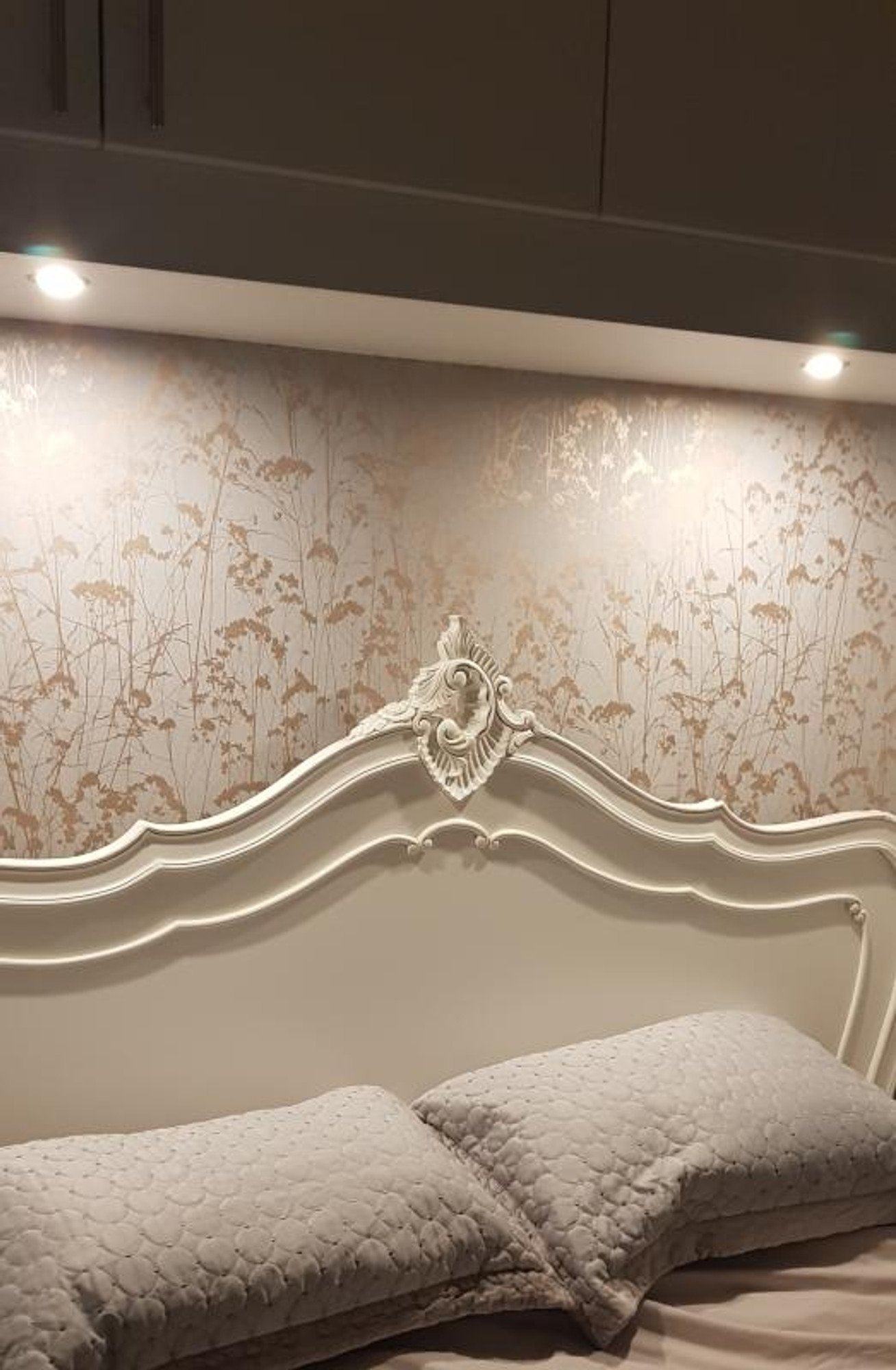 Grace Grey And Copper Meadow Silhouette Wallpaper Graham And Brown