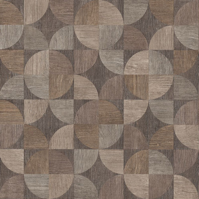Wood Geo - Brown / Grey
