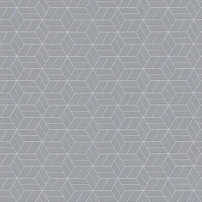 Geo Hexagon - Silver Grey