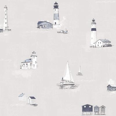Lighthouse - Warm Grey / Blue