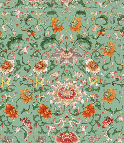 CHINESE FLORAL - GREEN