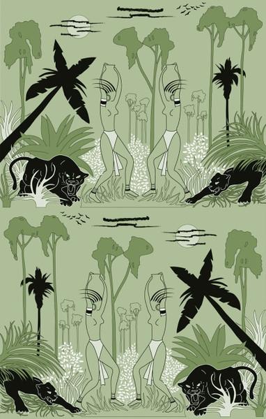 Deco Jungle - Green / Black