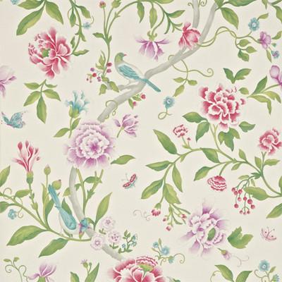 Porcelain Garden - Magenta / Leaf Green