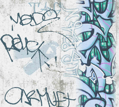 GRAFFITI CONCRETE - BLUE / GREEN