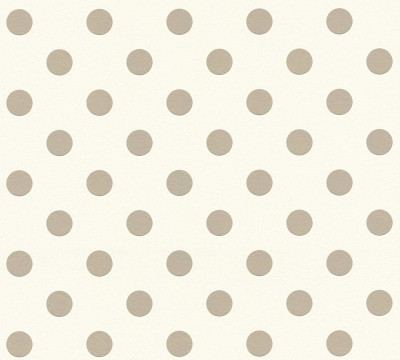EMBOSSED DOTS - WHITE / TAUPE