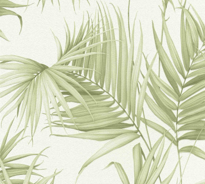 Palm Floral - Soft Green