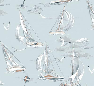 Sailboats - Soft Blue