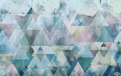 Mural - Triangles Blue (4.0m X 2.5m)