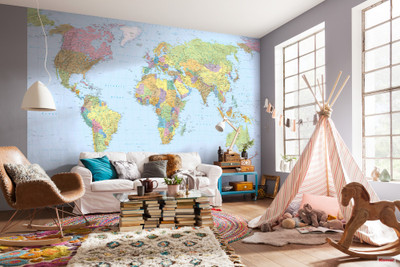 Mural - World Map (3.68m X 2.48m)