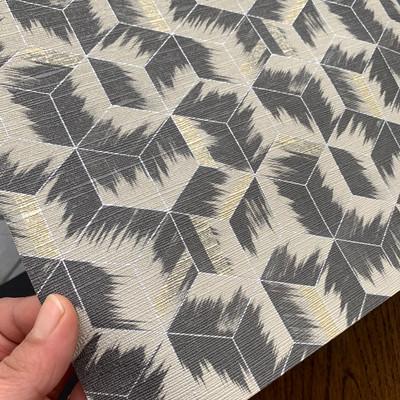 Tumbling Blocks - Stone / Black