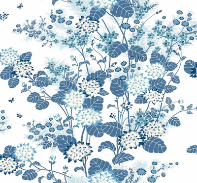 Chinese Floral - Blue / White