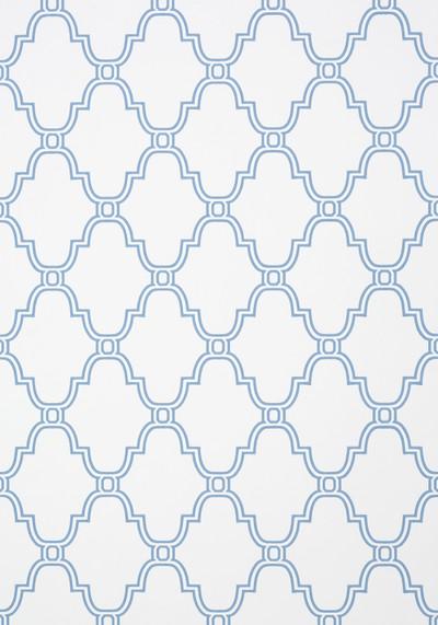 Stanbury Trellis - Blue On White