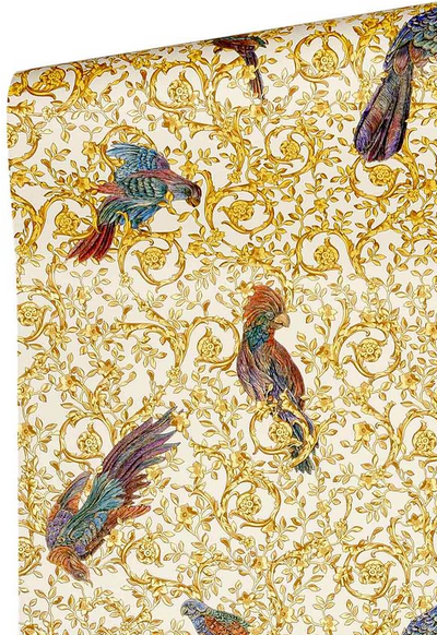 ORNAMENT BIRDS - WHITE / GOLD