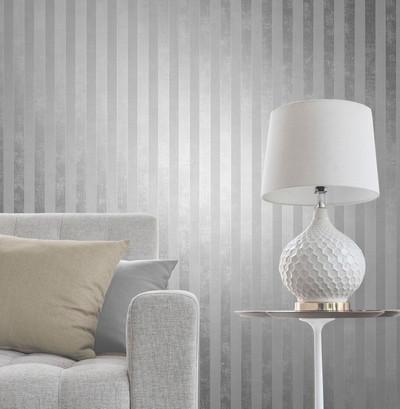 Tonal Stripe - White / Metallic