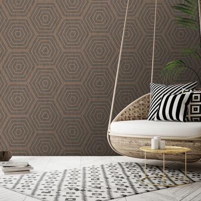 Aztec Hexagons - Copper
