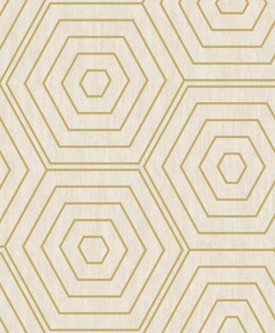 Aztec Hexagons - Stone / Metallic