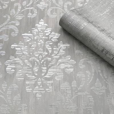 Couture Damask - Grey / Silver