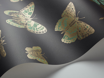 BUTTERFLIES & DRAGONFLIES - GREEN / CHARCOAL