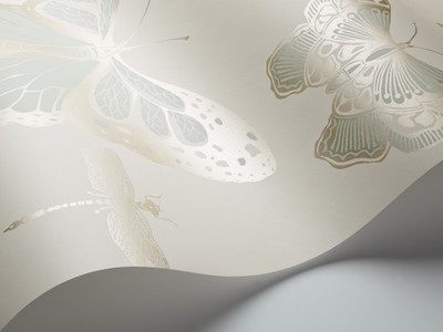 Butterflies & Dragonflies - Duck Egg / Ivory