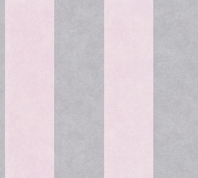 Vinyl Stripe - Rose Pink / Grey