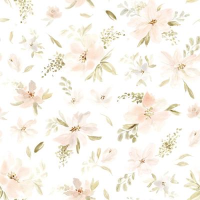 WATERCOLOUR FLOWERS - PINK / ORANGE