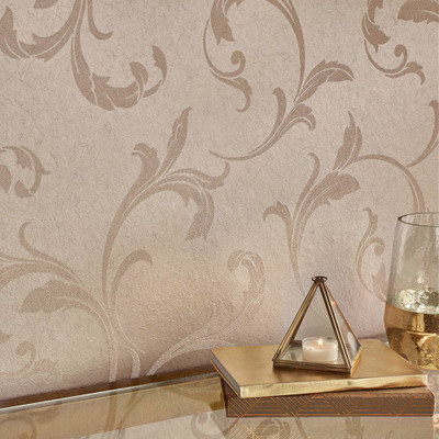 BAROQUE BEADED WALLPAPER - CHAMPAGNE