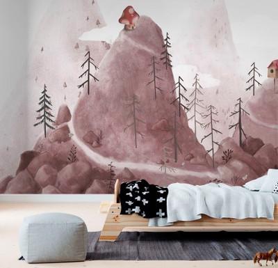 Mural - Birdhouse Fantasy Mountains (Per Sqm)